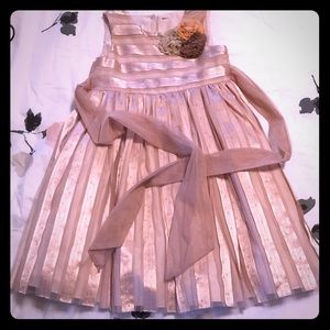 Champagne colored formal girls dress size 4